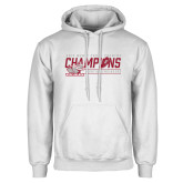 White Fleece Hoodie-2017 Mens Cross Country Champions