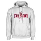 White Fleece Hoodie-Mens Swimming and Diving Champions