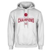 White Fleece Hoodie-Womens Basketball Champions