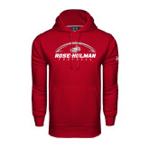 Under Armour Cardinal Performance Sweats Team Hoodie-Rose-Hulman Football w/ Football Horizontal