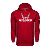 Under Armour Cardinal Performance Sweats Team Hoodie-Rose-Hulman Track & Field w/ Wings