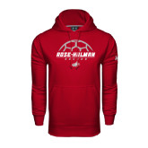 Under Armour Cardinal Performance Sweats Team Hoodie-Rose-Hulman Soccer Stacked w/ Ball