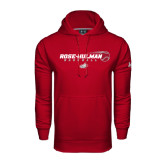 Under Armour Cardinal Performance Sweats Team Hoodie-Rose-Hulman Baseball w/ Flying Ball