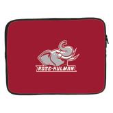 15 inch Neoprene Laptop Sleeve-Rosie with Rose-Hulman