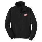 Black Charger Jacket-Rosie with Rose-Hulman