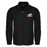 Full Zip Black Wind Jacket-Rosie with Rose-Hulman