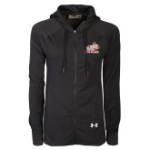 Ladies Under Armour Black Varsity Full Zip Hoodie-Rosie with Rose-Hulman