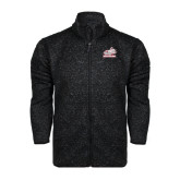 Black Heather Fleece Jacket-Rosie with Rose-Hulman
