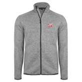Grey Heather Fleece Jacket-Rosie with Rose-Hulman