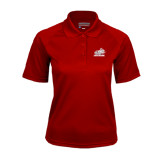 Ladies Cardinal Textured Saddle Shoulder Polo-Rosie with Rose-Hulman