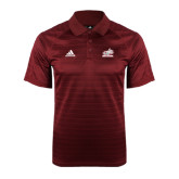 Adidas Climalite Cardinal Jaquard Select Polo-Rosie with Rose-Hulman