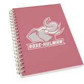 Clear 7 x 10 Spiral Journal Notebook-Rosie with Rose-Hulman