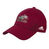 Adidas Maroon Structured Adjustable Hat-Official Logo