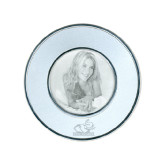 Silver Two Tone Small Round Photo Frame-Rosie with Rose-Hulman Engraved