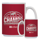 Full Color White Mug 15oz-HCAC Tournament Champs - Womens Basketball 2017 Half Ball