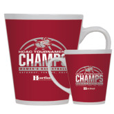 Full Color Latte Mug 12oz-HCAC Tournament Champs - Womens Basketball 2017 Half Ball
