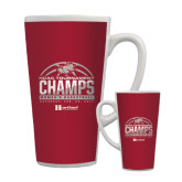 Full Color Latte Mug 17oz-HCAC Tournament Champs - Womens Basketball 2017 Half Ball