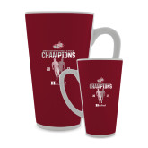 Full Color Latte Mug 17oz-2017 HCAC Mens Outdoor Track and Field Champions