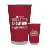 Full Color Glass 17oz-Heartland Conference Tournament Champions Mens Indoor Track and Field 2017