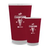 Full Color Glass 17oz-2017 HCAC Mens Outdoor Track and Field Champions