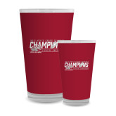 Full Color Glass 17oz-2017 Mens Cross Country Champions