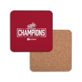 Hardboard Coaster w/Cork Backing-Mens Swimming and Diving Champions