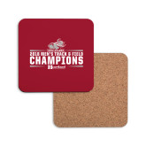 Hardboard Coaster w/Cork Backing-Mens Track and Field Champions