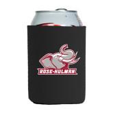 Neoprene Black Can Holder-Rosie with Rose-Hulman