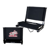Stadium Chair Black-Rosie with Rose-Hulman