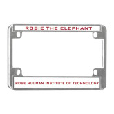 Metal Motorcycle License Plate Frame in Chrome-Mascot