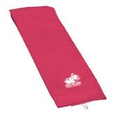Pink Raspberry Golf Towel-Official Logo