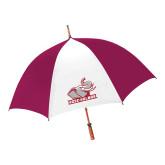 62 Inch Cardinal/White Umbrella-Rosie with Rose-Hulman