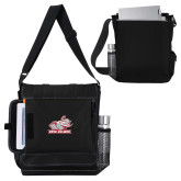 Impact Vertical Black Computer Messenger Bag-Rosie with Rose-Hulman
