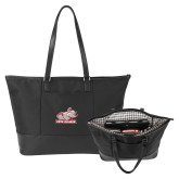 Stella Black Computer Tote-Rosie with Rose-Hulman