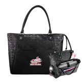 Sophia Checkpoint Friendly Black Compu Tote-Rosie with Rose-Hulman