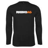 Performance Black Longsleeve Shirt-Wordmark