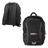 Atlas Black Computer Backpack-Wordmark
