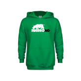 Youth Kelly Green Fleece Hoodie-Primary Mark