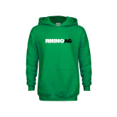Youth Kelly Green Fleece Hoodie-Wordmark