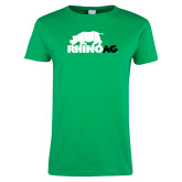 Ladies Kelly Green T Shirt-Primary Mark