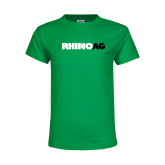 Youth Kelly Green T Shirt-Wordmark