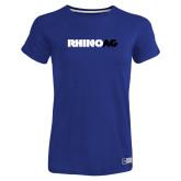 Ladies Russell Royal Essential T Shirt-Wordmark