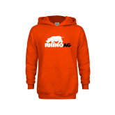 Youth Orange Fleece Hoodie-Primary Mark