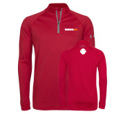 Under Armour Cardinal Tech 1/4 Zip Performance Shirt-Wordmark