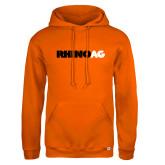 Russell DriPower Orange Fleece Hoodie-Wordmark