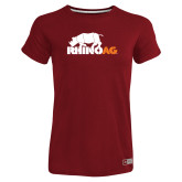 Ladies Russell Cardinal Essential T Shirt-Primary Mark
