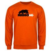 Orange Fleece Crew-Primary Mark