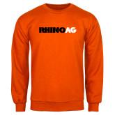 Orange Fleece Crew-Wordmark