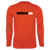 Performance Orange Longsleeve Shirt-Wordmark