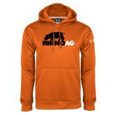 Under Armour Orange Performance Sweats Team Hoodie-Primary Mark